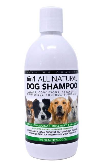 Shampoing 100% naturel TheHealthyDogCo 6 en 1 en Promo -19%